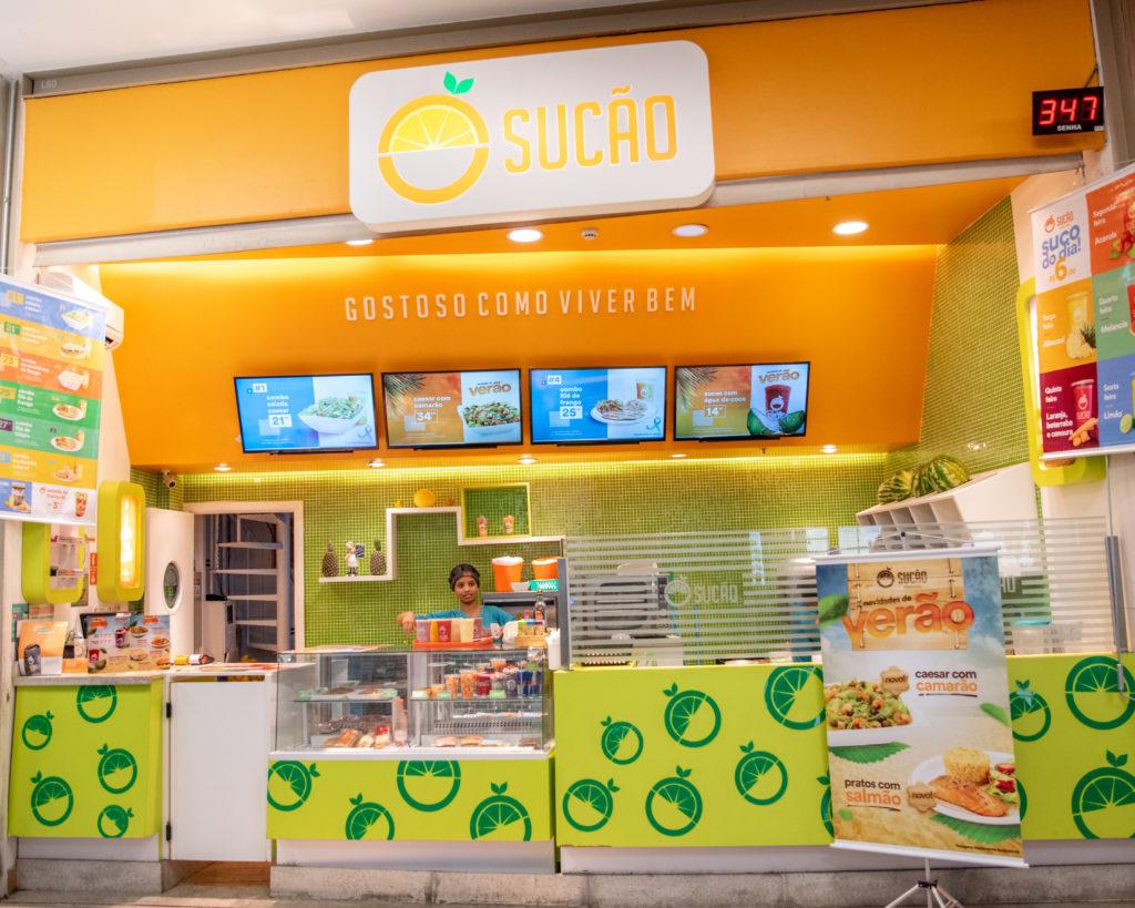 Restaurante de alimentação saudável em shopping